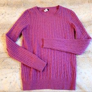 J.Crew Cashmere Blend Cableknit Sweater